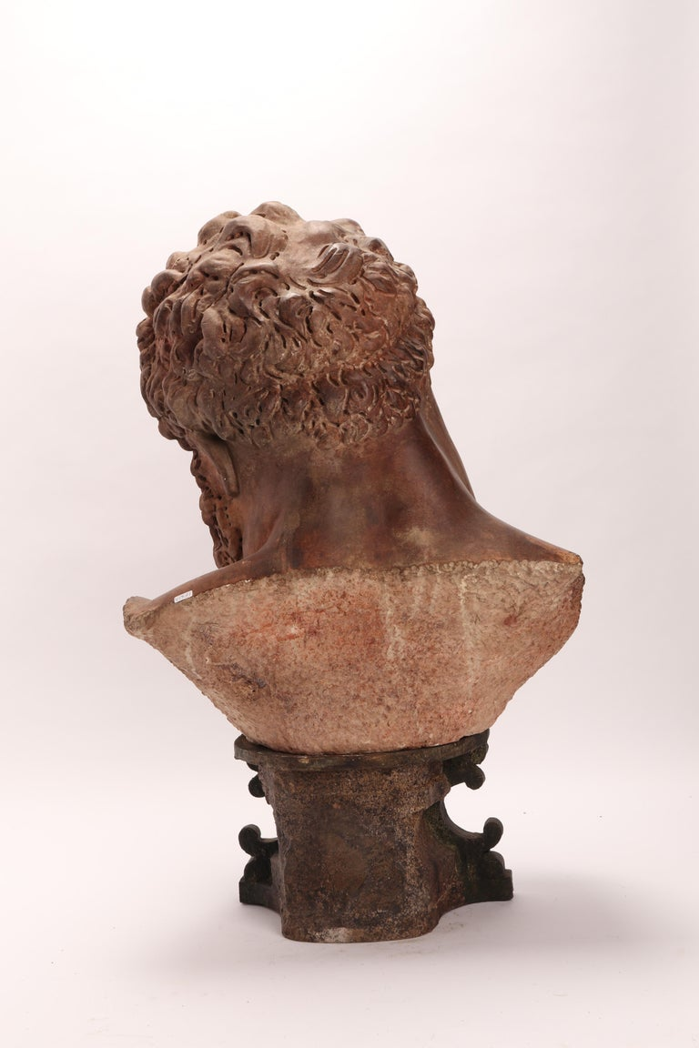 Academic Cast Depicting Hercules Head, Italy, 1880 For Sale 3