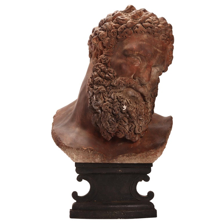 Academic Cast Depicting Hercules Head, Italy, 1880 For Sale