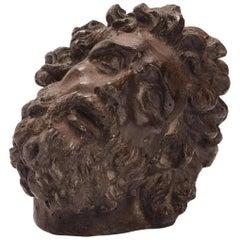 Academic Cast Depicting Laoconte Head, Italy, 1880