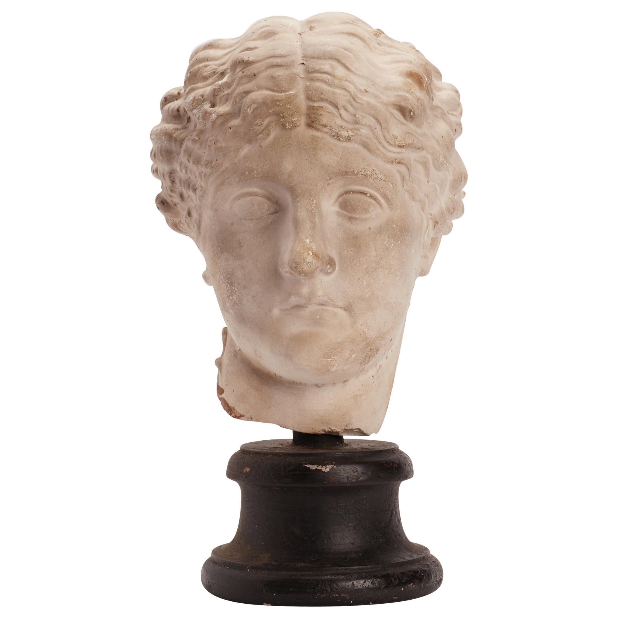 Academic Cast of a Roman Women Head, Italy, 1890