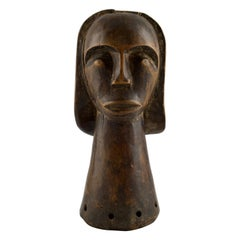 African Fang Style Carving of a Woman Head
