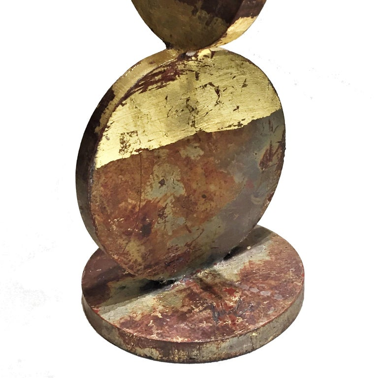 American Contemporary Anodized and Gold Painted Iron Sculpture, 21st Century For Sale 1