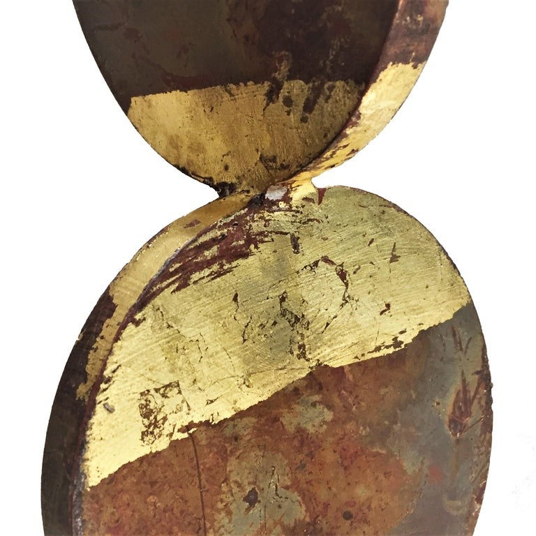 American Contemporary Anodized and Gold Painted Iron Sculpture, 21st Century For Sale 2