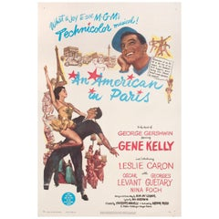 American in Paris 1951 U.S. One Sheet Film Poster