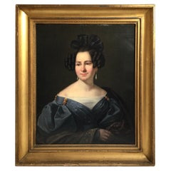 American Portrait of an Aristoratic Woman, Circa 1850