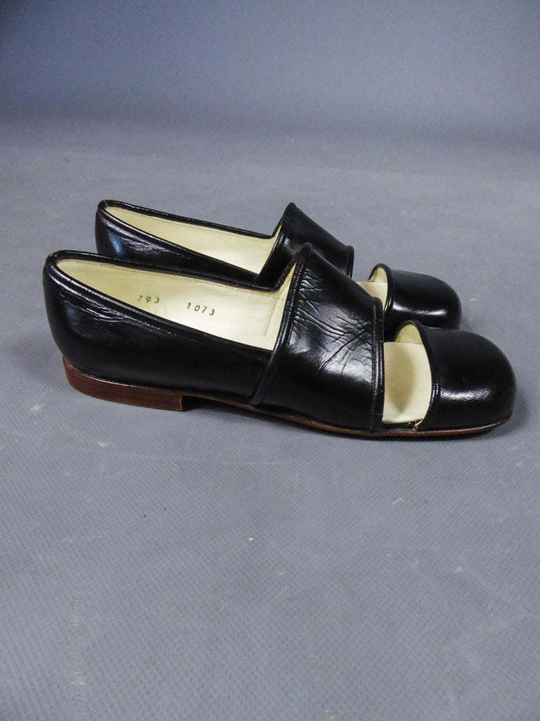 An André Courrèges Couture Pair of Shoes Circa 1967/1970 In Excellent Condition For Sale In Toulon, FR