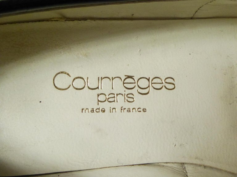 An André Courrèges Couture Pair of Shoes Circa 1967/1970 For Sale 2