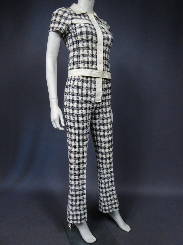 An André Courrèges Pant Suitnumbered 0514895 and 579326 Taty Style Circa 1969 For Sale 6