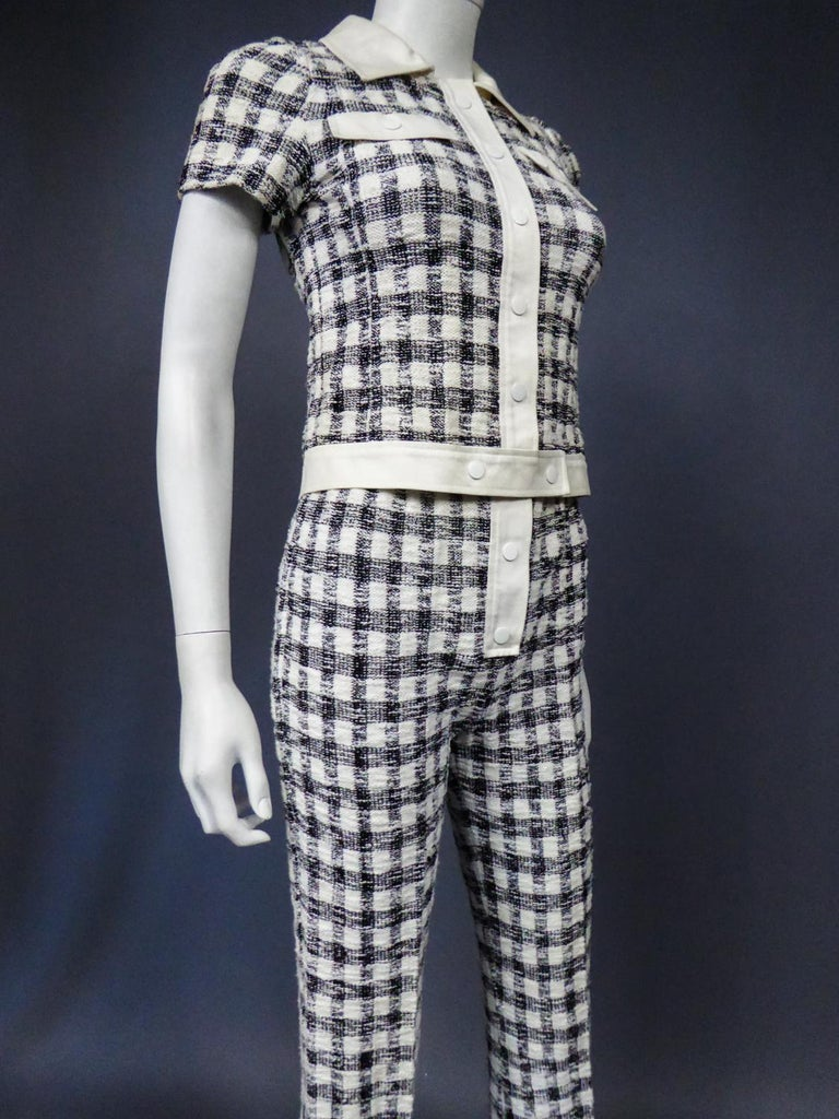 An André Courrèges Pant Suitnumbered 0514895 and 579326 Taty Style Circa 1969 For Sale 7