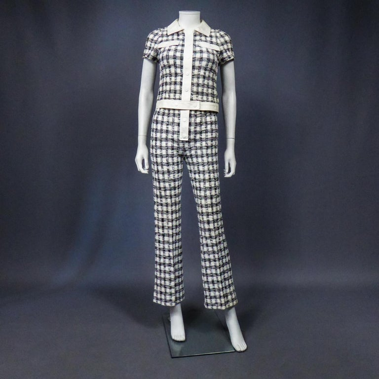 Women's An André Courrèges Pant Suitnumbered 0514895 and 579326 Taty Style Circa 1969 For Sale