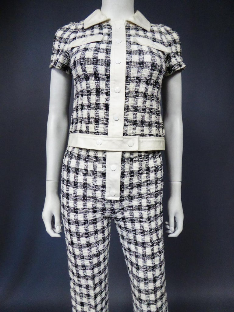 An André Courrèges Pant Suitnumbered 0514895 and 579326 Taty Style Circa 1969 For Sale 1