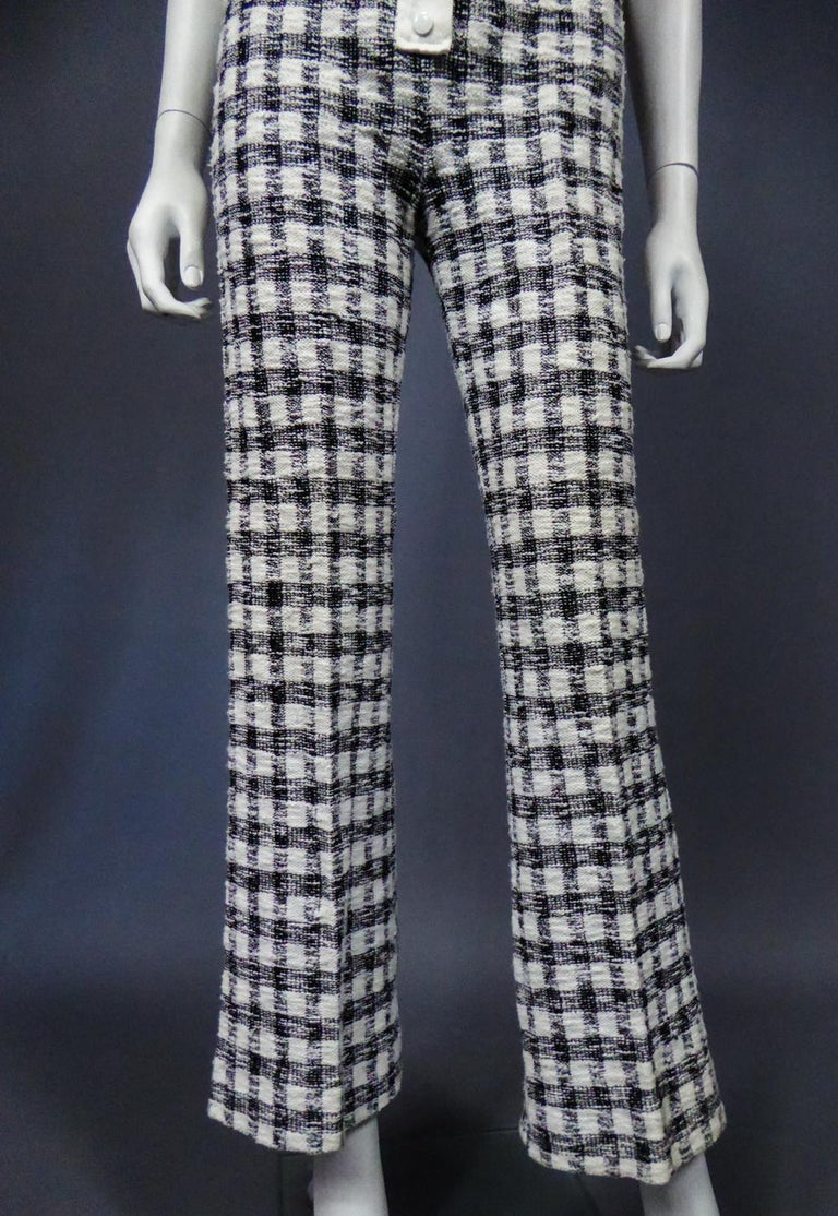 An André Courrèges Pant Suitnumbered 0514895 and 579326 Taty Style Circa 1969 For Sale 2