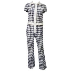 An André Courrèges Pant Suit numbered 0514895 and 579326 Taty Style Circa 1969