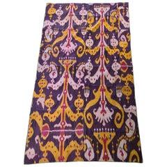 Antique 19th Century Russian Uzbek Pure Silk Wrapped Tribal Weaving Ikat