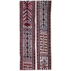 "Antique, 19th Century Yomut, Yomud Tent Strap, Band, ""Zeltband"" Carpet, Rug"