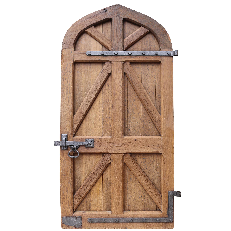 Antique Arched English Oak Door