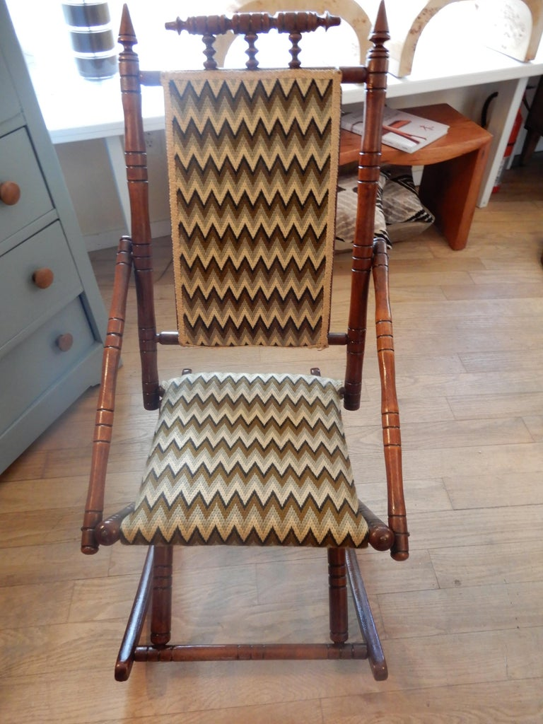 Antique Bamboo Rocker in the George Hunzinger Style For Sale 3