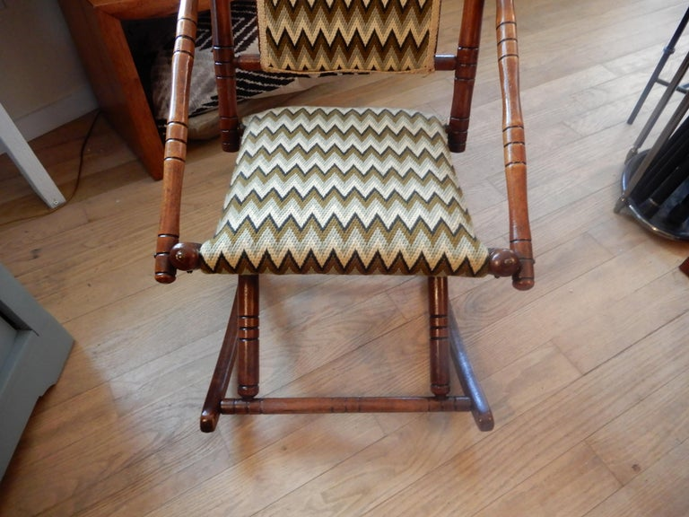Antique Bamboo Rocker in the George Hunzinger Style In Excellent Condition For Sale In Bellport, NY