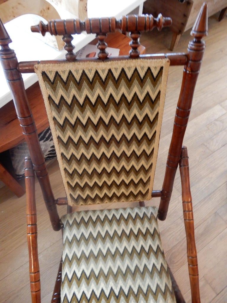 19th Century Antique Bamboo Rocker in the George Hunzinger Style For Sale