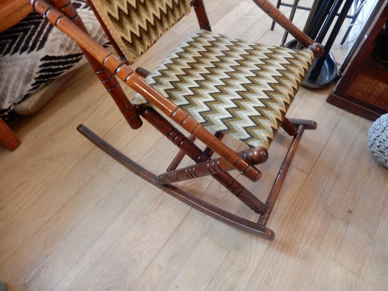 Antique Bamboo Rocker in the George Hunzinger Style For Sale 1