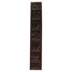 Antique Carved Oak Panel