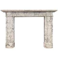Antique English Early 19th Century Marble Fireplace Mantel