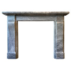 Antique English Regency Fireplace Mantel in Bardiglio Marble