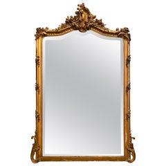 Antique French Gold Gilt Mirror