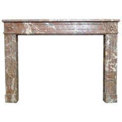Antique French Louis XVI Marble Fireplace Mantel