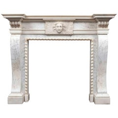 Antique George II Period Marble Mantelpiece in the Manner of William Kent