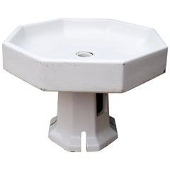 Antique Glazed Ceramic Water Fountain Bowl