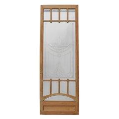 Antique Glazed Pine Door