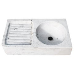 Antique Italian Carrara Marble Kitchen Sink