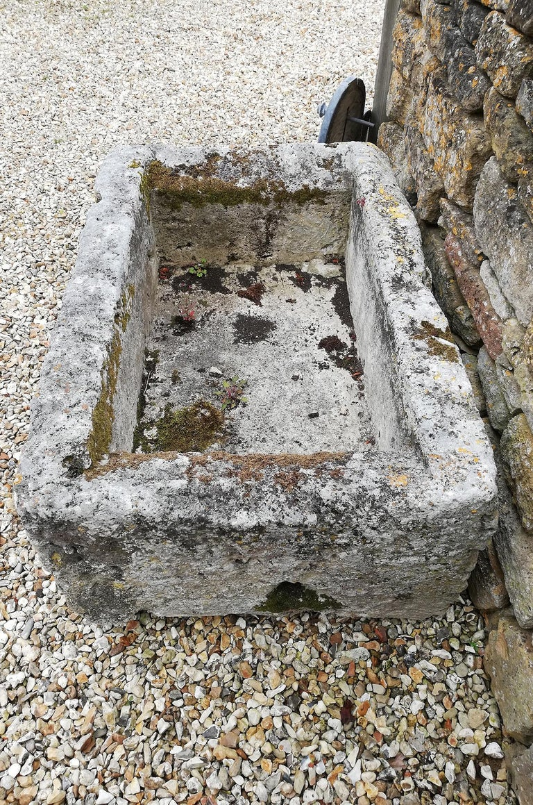 18th Century and Earlier Antique Limestone Trough For Sale