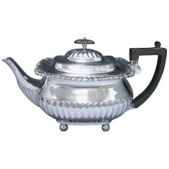 Antique Sterling Silver Teapot Made in the Reign of Edward VII