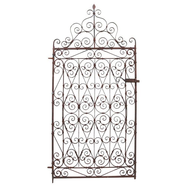 Antique Wrought Iron Garden Gate For