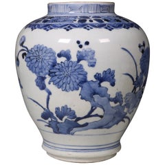 An Arita Blue and White Vase L, 17th Century