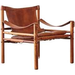 Arne Norell Safari Chair, Norell Mobel, Sweden, 1970s