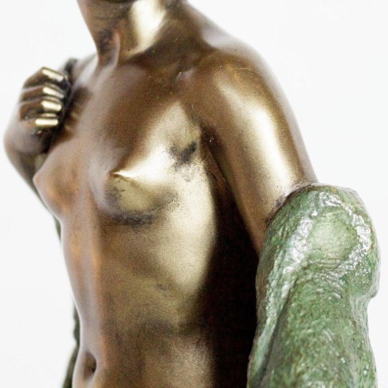 Art Deco Bronze Sculpture by Joé Descomps, French, circa 1925 For Sale 6