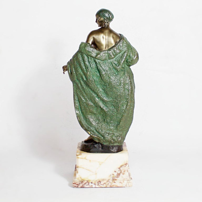 Art Deco Bronze Sculpture by Joé Descomps, French, circa 1925 For Sale 1