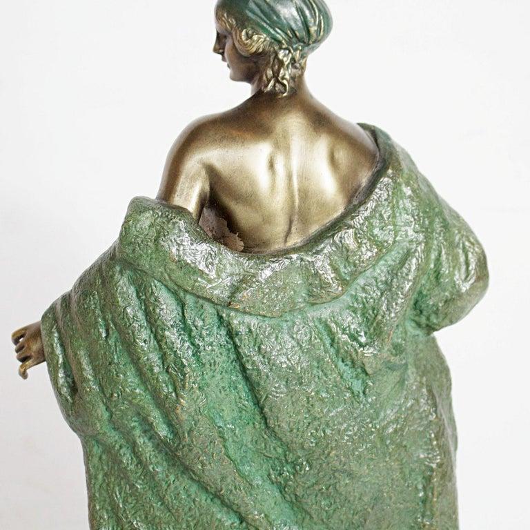 Art Deco Bronze Sculpture by Joé Descomps, French, circa 1925 For Sale 2