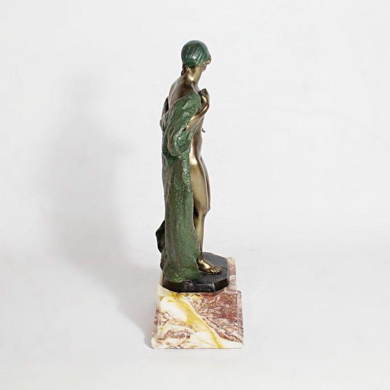 Art Deco Bronze Sculpture by Joé Descomps, French, circa 1925 For Sale 3