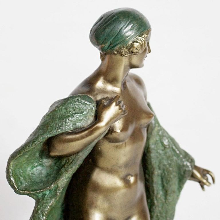 Art Deco Bronze Sculpture by Joé Descomps, French, circa 1925 For Sale 5