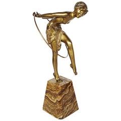 An Art Deco Bronze Study of a Hoop Dancer by Demétre Chiparus