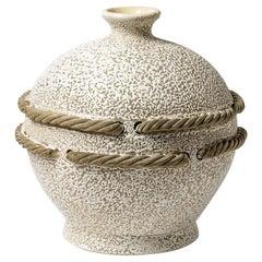 Art Deco Ceramic Vase Attributed to Primavera, circa 1930-1940