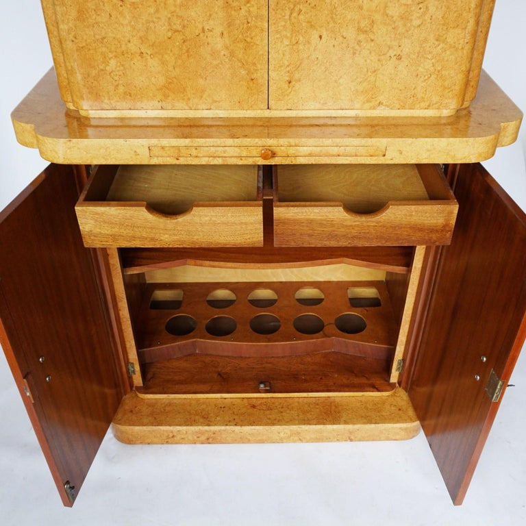 Art Deco Cocktail Cabinet by Harry & Lou Epstein English, Circa 1930 For Sale 5