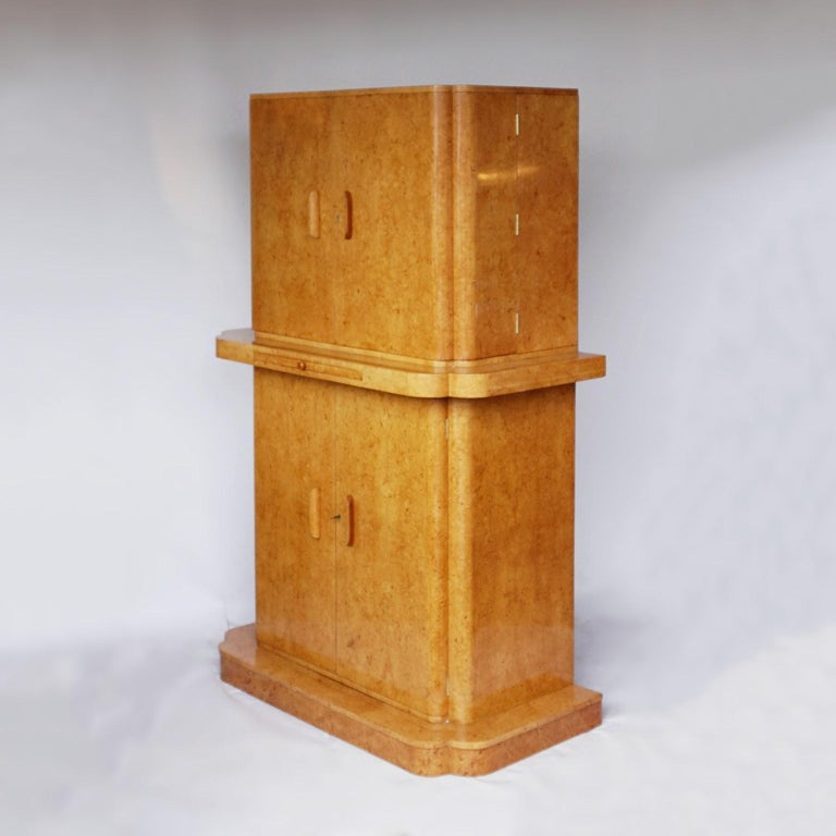 Art Deco Cocktail Cabinet by Harry & Lou Epstein English, Circa 1930 For Sale 7