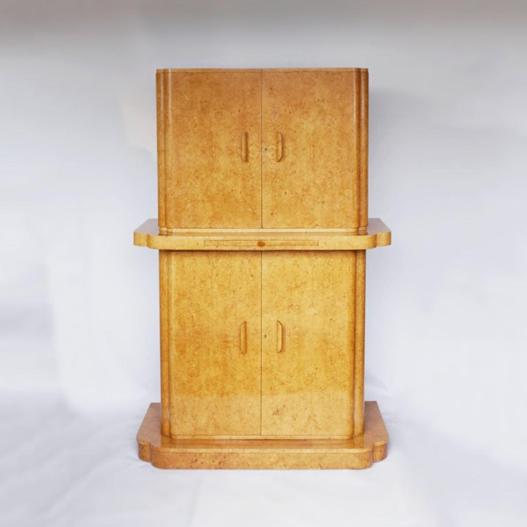 Art Deco Cocktail Cabinet by Harry & Lou Epstein English, Circa 1930 For Sale 9