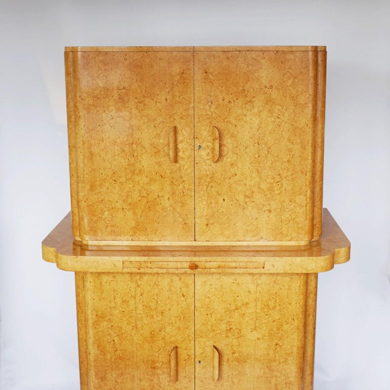 Mahogany Art Deco Cocktail Cabinet by Harry & Lou Epstein English, Circa 1930 For Sale