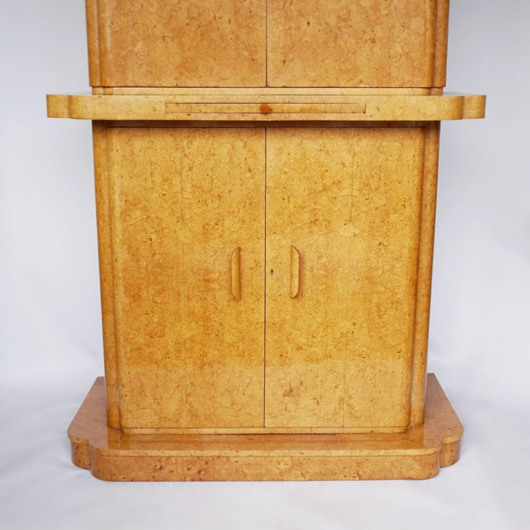 Art Deco Cocktail Cabinet by Harry & Lou Epstein English, Circa 1930 For Sale 1